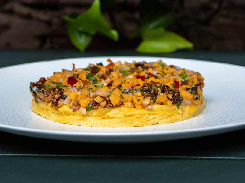 Open Omelette of Autumn Squash served at Brennan's Restaurant