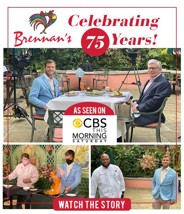 Brennan's on CBS This Morning!