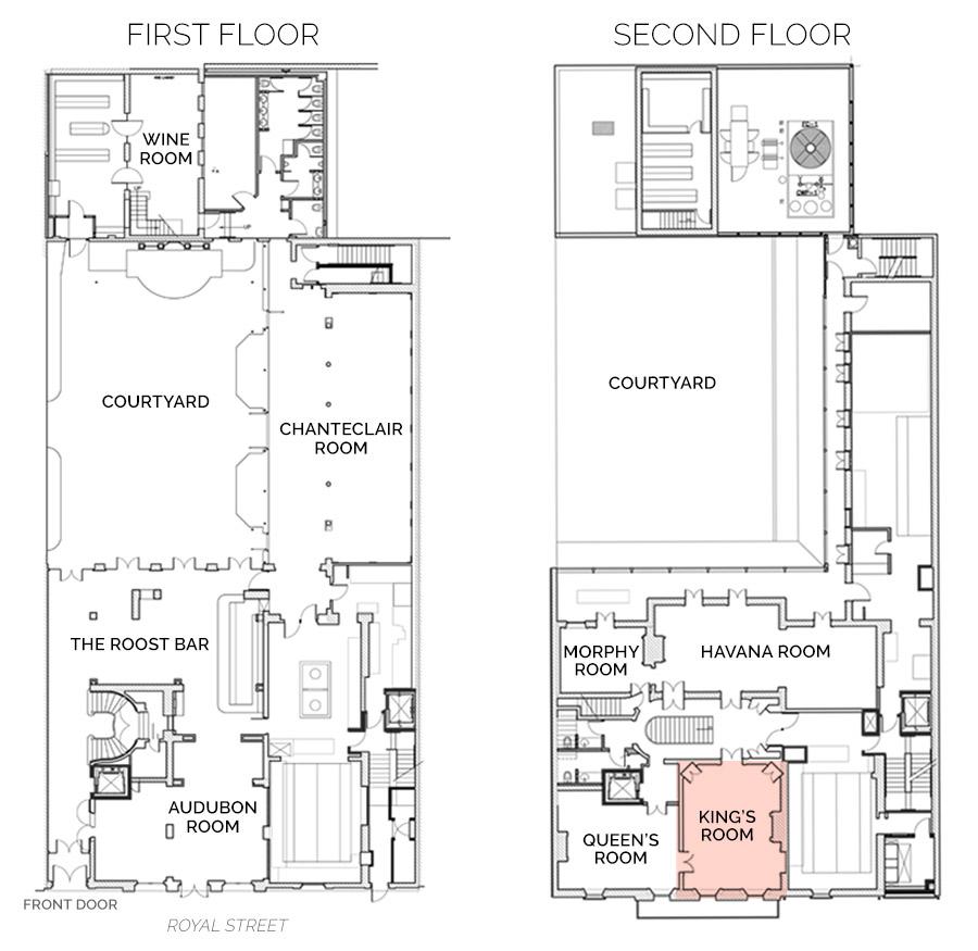 Floorplan showing Kings Room on Second Floor