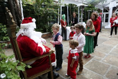 Children in line to meet Santa