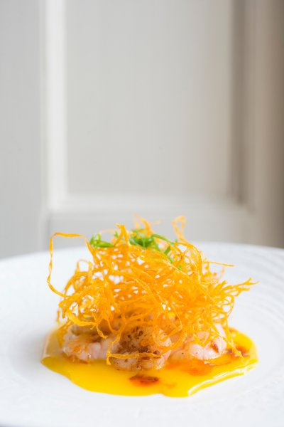 Egg Yolk Carpaccio