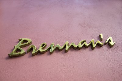 Brennan's brass sign