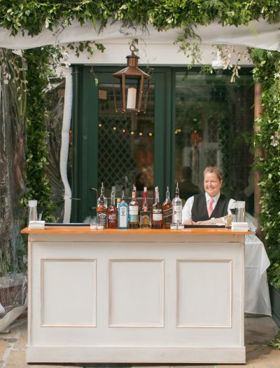 Outdoor bar perfect for courtyard receptions