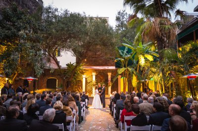 Winter wedding in the courtyard