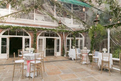 Our courtyard can be tented for any event