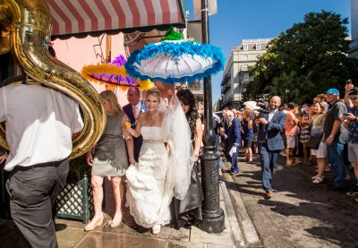 Bride leading her second line