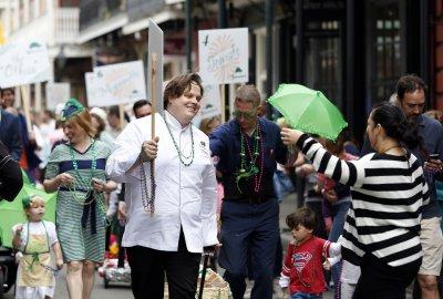 Executive Chef Slade Rushing walking in parade