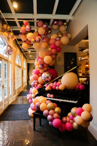 Badass Balloon Co. installation on our self-playing piano
