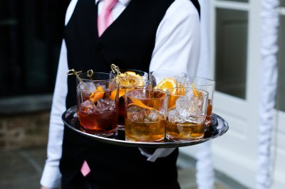 Guests were greeted with The King's, Southern Pecan & Satsuma Old Fashioned cocktails