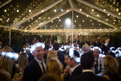 Guests dance during wedding
