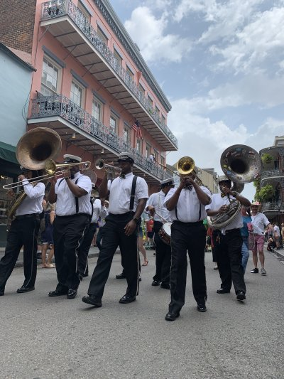Jazz Band leading the Second Line