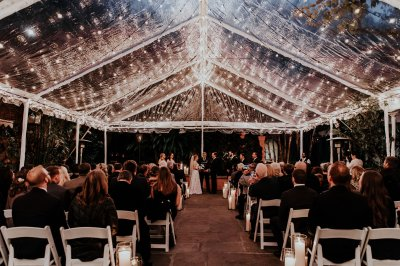 Bride and Groom evening ceremony