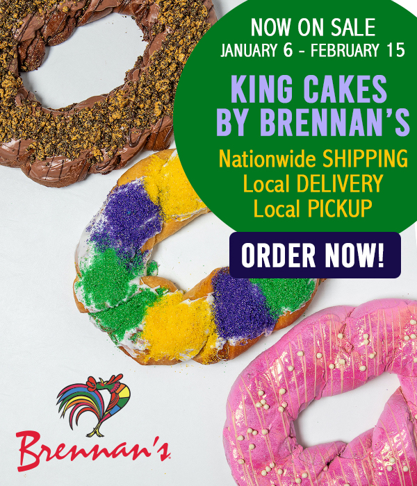 King Cakes by Brennan's Now on Sale!