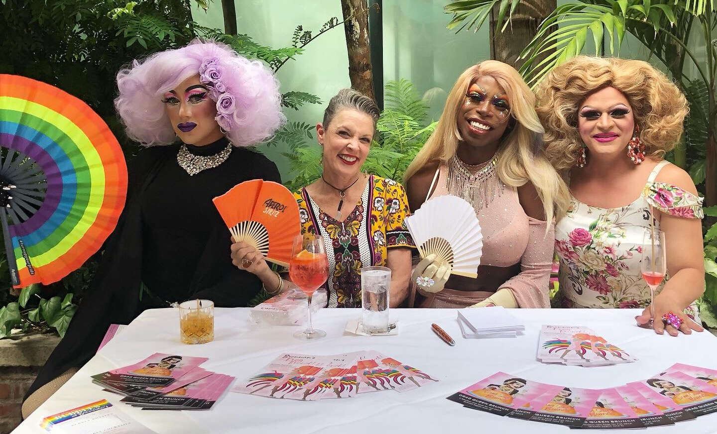 Promotion for Drag Queen Brunch Book Launch Party