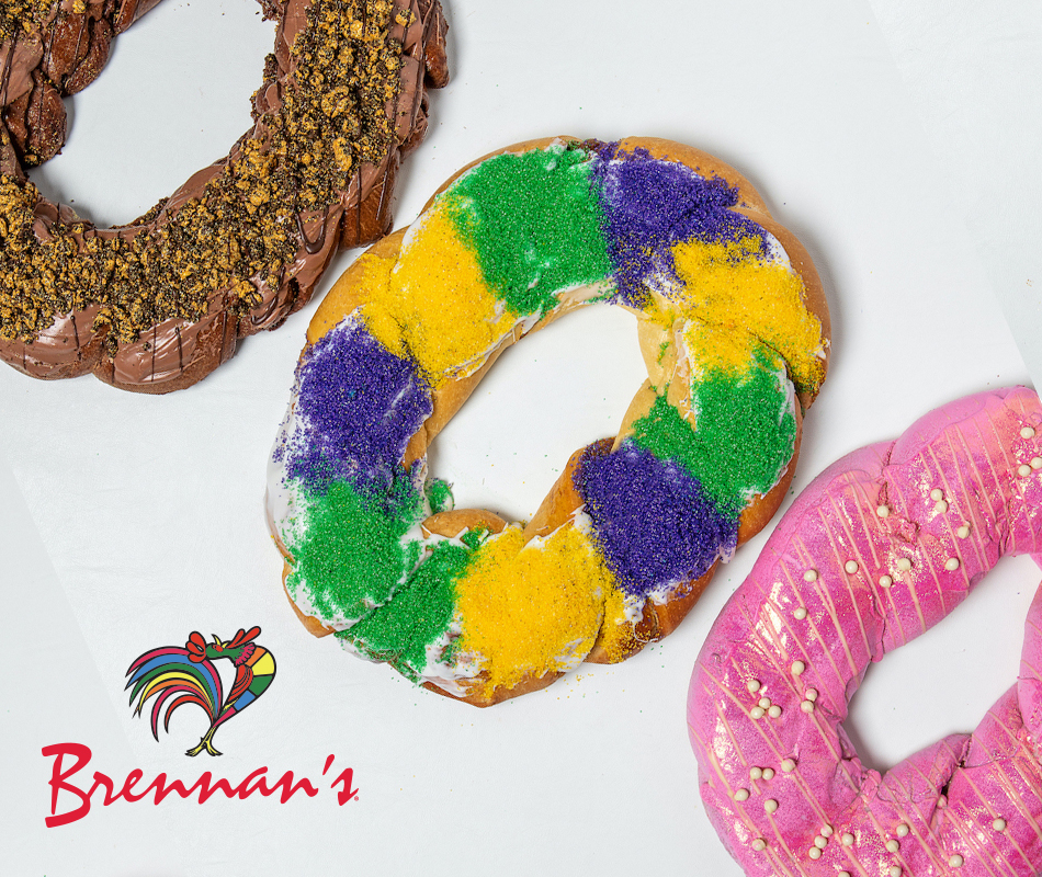 Promotion for King Cakes by Brennan's