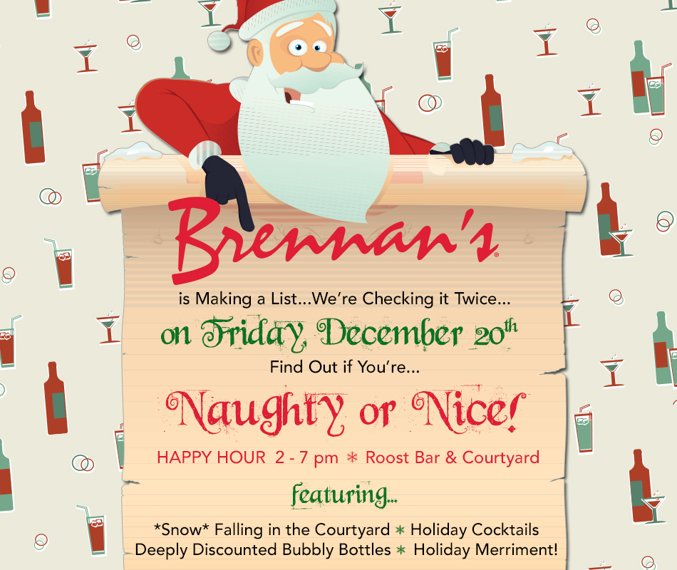 Promotion for Naughty or Nice Happy Hour